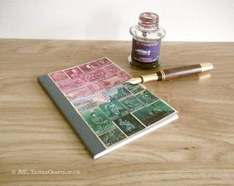 Pink Dusk Hillside Pocket Travel Journal - One of the 'Lost' Notebooks