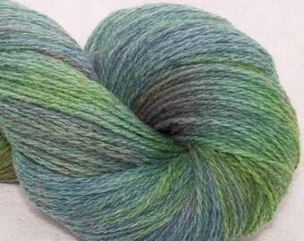 Hand dyed yarn, Scottish Shetland yarn,  hand painted 2ply,  100% pure Shetland wool, Indie dyed yarn, colour;Marina