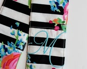 Camera Strap Cover with lens cap pocket and padding included - Monogrammed Rose