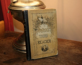 The Third Reader, Antique Book, Lewis B. Monroe, Vintage School Book, Reading Book, Vintage Academia, Schoolhouse Vintage, 1873 Book