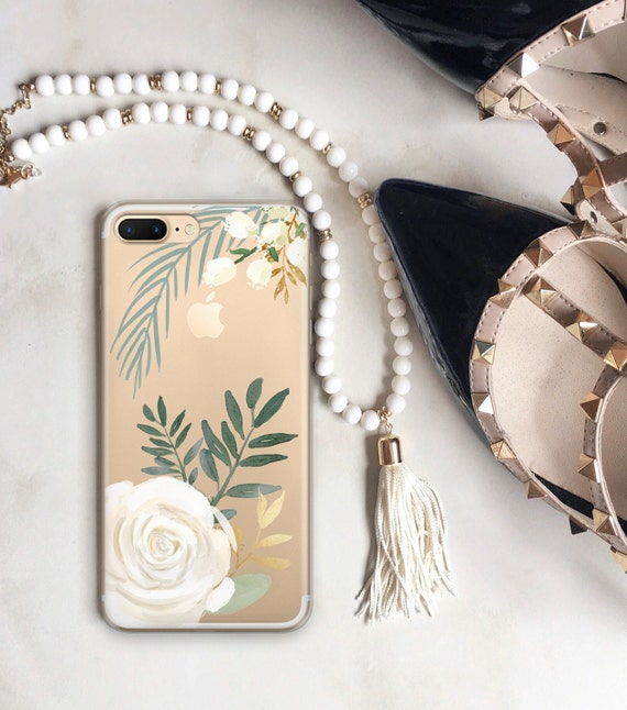 Watercolor Roses Clear Case