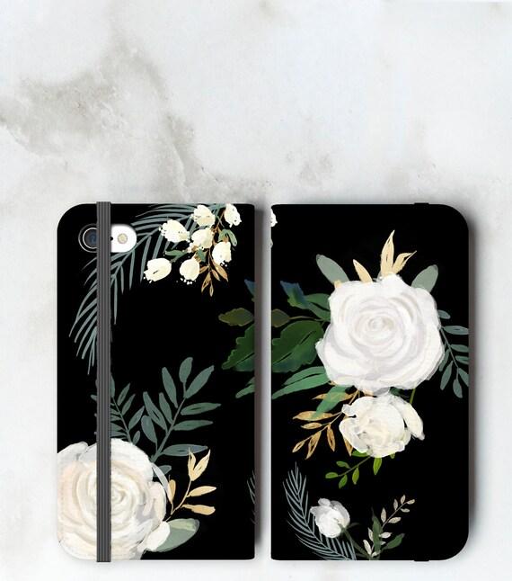 Watercolor Roses Wallet Case