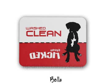 Clean Dirty Dishwasher Magnet, Dog Design - Washed Clean, Licked Clean - Clean Dirty Sign for dishwasher, Great Dane, Boxer, Labrador Puppy