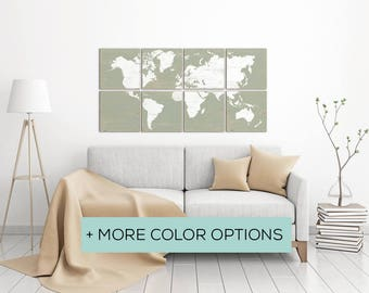 Maps of the World for Sale in a Variety of Options - Perfect for Living Room Decor