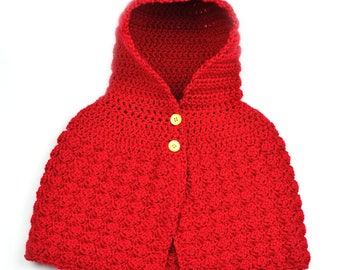 Cozy Hooded Poncho - 4 Sizes - PDF Crochet Pattern - Instant Download