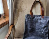 Alki Beach Tote - Waxed Canvas, Cordura, and Leather Straps