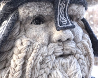 Bust Norse Viking- One of a kind Soft Sculpture by Bella McBride