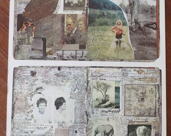 Vintage 1970s Peter Beard Diary Pages Lithograph Poster: Iconic Contemporary American Art