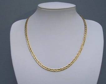 Vintage 1/20 12kt Gold Filled Braided Chain 18""