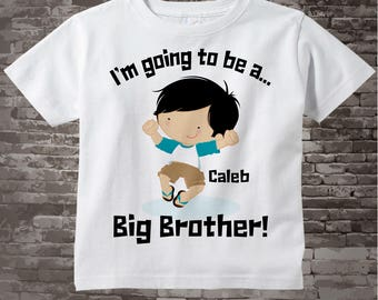 Big Brother Pregnancy Announcement I'm Going to be a Big Brother Tee Shirt or Onesie 04142014e