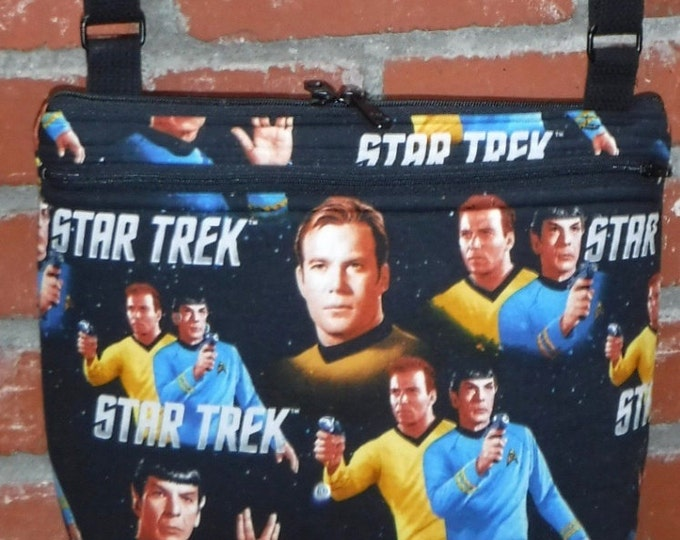 Custom - Star Trek Spock and Kirk: tablet tote