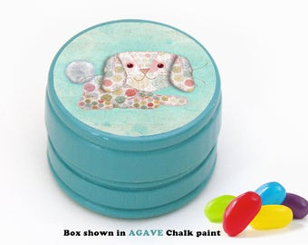 Floppy Bunny Rabbit Box - Pick your Own Color - Bunny Rabbit Tooth Fairy Box - Jelly Bean Storage Box