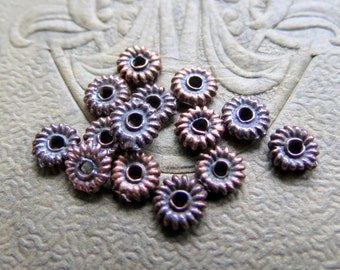 NEW Mykonos DAISY SPACERS . 4.5 mm . 10 pieces . Greek Findings