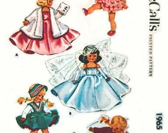 "PDF digital 7-8"" Doll Clothes pattern #1965"