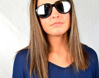 Vintage Mirrored Ski Sporty Sunglasses  - Style Eyes