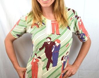 Vintage 1970s AMAZING Cotton Novelty Rare Maxi Dress - Ms. Arkin