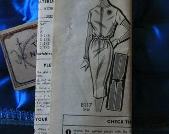 1960s vintage mail order dress pattern Patt-O-Rama  8117 size 10 FF