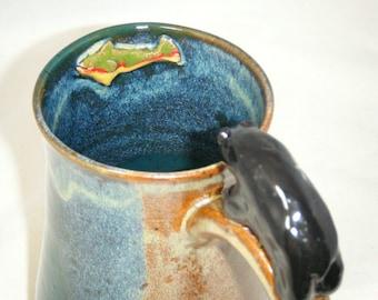 Bear Mug Fish Rainbow Trout Black Bear Salmon Cup