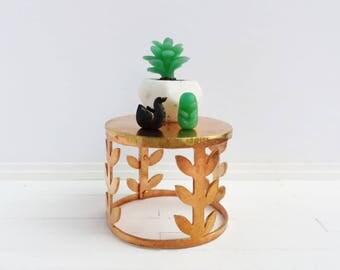 Dollhouse Figures - miniature artisan decor, 1:12 scale, mini modern home decor, teeny tiny, faux jade figurine, black swan, shelfie