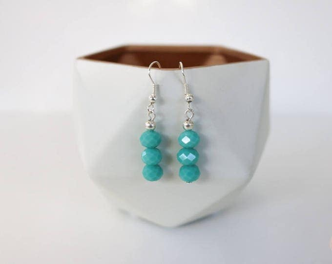 Teal/ Seafoam Drop Earrings.