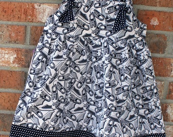 Black and White Tennis Shoes Party Tie Dress Size 3T Ready to Ship
