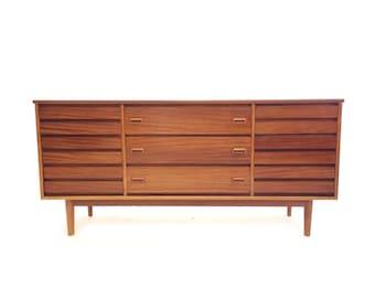 Vintage Modern Dresser In Teak