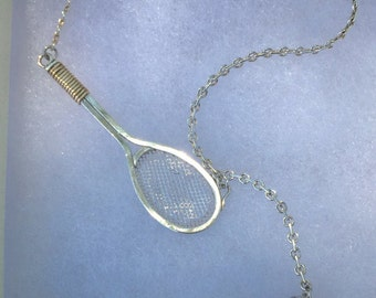 Tennis Necklace in Sterling Silver and 14K Gold Hand Wrought