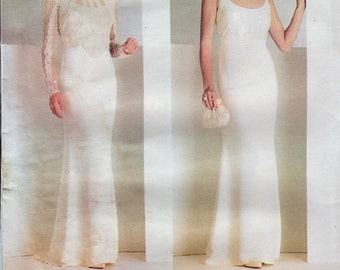 Vogue 2065 / Vintage Designer Sewing Pattern by Badgley Mischka / Evening Gown And Jacket / Sizes 18 20 22