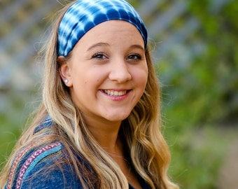 Head Wrap Headbands, Blue Headband, Soft Head Scarf, Adult Headscarf, Royal Blue Scarves for Hair (#1019) S M L X