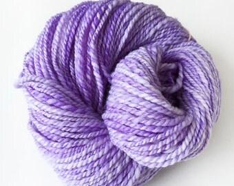 Lavender Superwash Merino and Nylon Handspun Yarn for Knitting, Crochet or Weaving