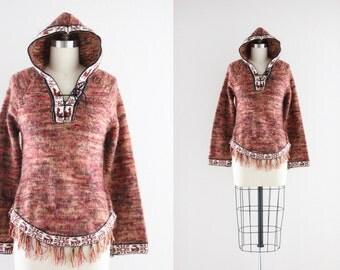 S A L E alpaca hooded sweater