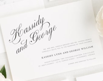 Charming Elegance Wedding Invitations - Sample