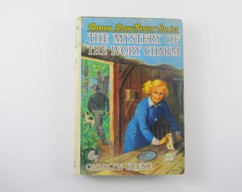 Nancy Drew Mystery Stories #13 The Mystery Of The Ivory Charm 1950's