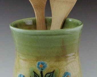 Forget Me Not Utensil Holder