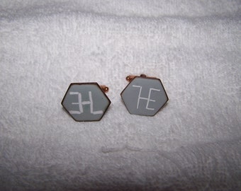 Handcrafted Copper with Enamel Cufflinks