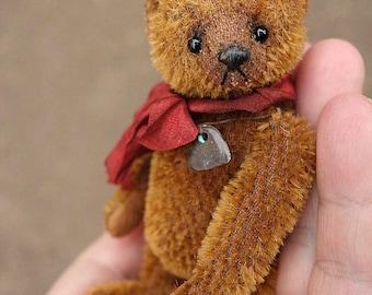 Pixi, Miniature Cinnamon  Mohair Artist Teddy Bear from Aerlinn Bears