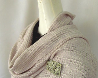Handwoven Hemp and Rayon Lace Wrap
