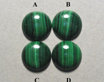 green MALACHITE round cabochon 16mm disc designer cab