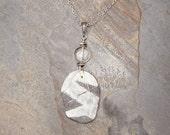 Beach Rock Necklace, Wire Wrap Necklace, Reversible Necklace, Natural Stone Necklace, Rock Necklace, Bohemian Necklace, Quartz Necklace