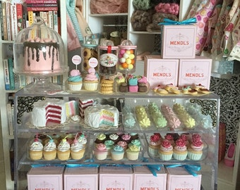 Mendl's Patisserie PASTRY & CAKE BOX - Choose 1:12 or 1/6 Scale Miniature