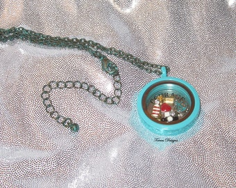 Legend of Zelda Wind Waker Floating Story Locket Pendant Necklace Custom made OOAK One of Kind by TorresDesigns Ready To Ship