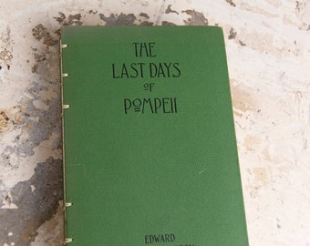 LAST DAYS of POMPEII Vintage Lined Notebook Journal