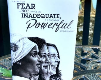 """Powerful Women Pocket Notebook, Illustration by Catherine A. Moore (48 Interior Blank Pages - 60# Uncoated Text-Weight Paper, 3.875"""" x 5.5"""")"""