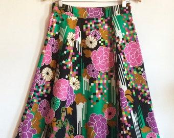 Vintage Floral A Line Skirt