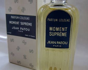 Vintage 1930s Jean Patou Moment Supreme Perfume / RARE New In Box Never Use Art Deco Skyscraper Parfume Bottle Made in France