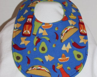 Taco Time Flannel / Terry Cloth Bib