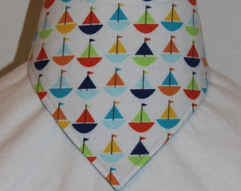 Reversible Sailboat   Bandana Bib