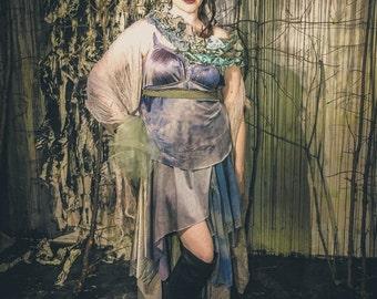 Water Goddess Dress / Lilac and Blue Faerie Costume / Faerie Wedding Dress