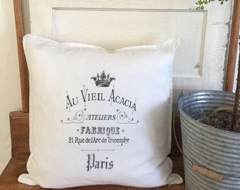 French Farmhouse Pillow | French Pillows | Pillow Cover | Farmhouse Decor | Cottage Decor | Cottage Pillows