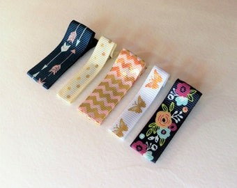 Hair Clip Toddler Barrettes Ribbon Barrettes Gold Barrette Toddler Girl Hair Accessories for Toddler Hair Accessories Baby Infant Hair Clips